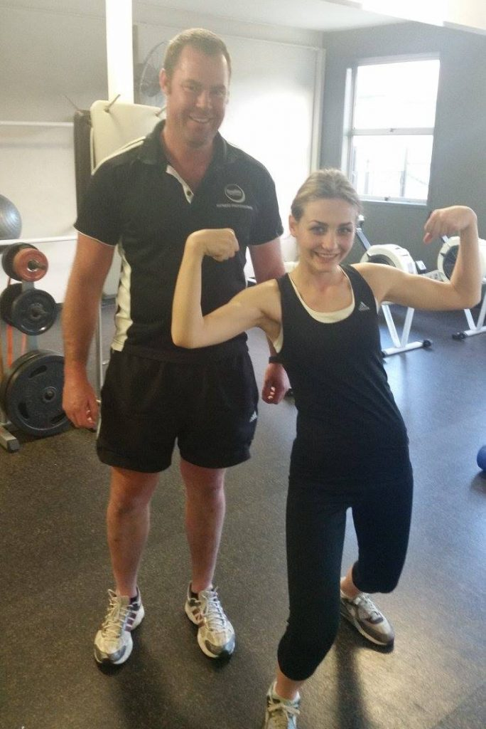 Personal trainer Cannon Hill QLD 4170 weight loss toned exercise fitness strength Georgia showing off her muscles! 2nd May 2017