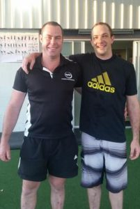 Personal training Cannon Hill QLD 4170 weight loss toned exercise strength Geoff after giving his all in a fitness session.