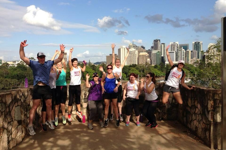 Personal training Cannon Hill QLD. weight loss, toned, exercise, fitness. 4170 Bootcamp at Kangaroo Point Stairs getting fit and healthy. 18th July 2011